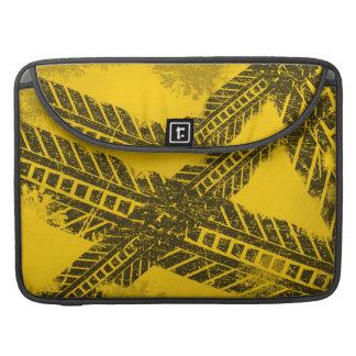 Bolsa Para MacBook Pro Marcação de estrada preta afligida Grunge da