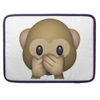 Bolsa Para MacBook Pro Não fale nenhum macaco mau - Emoji
