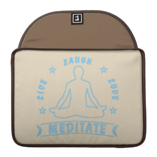 Bolsa Para MacBook Pro O amor vivo do riso Meditate o texto masculino (o