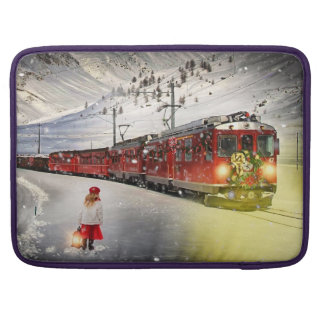 Bolsa Para MacBook Pro O papai noel expresso do Pólo Norte - trem do