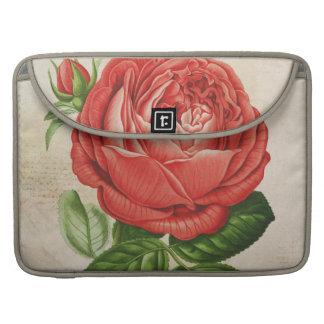 Bolsa Para MacBook Pro Perpétuo híbrido vermelho do vintage, Paul Neyron