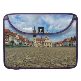 Bolsa Para MacBook Pro Praça da cidade velha em Bardejov, Slovakia