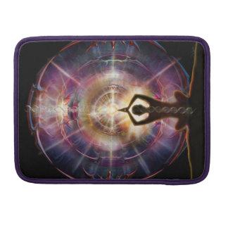 Bolsa Para MacBook Pro Saudação blindada do coração V087