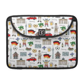 Bolsa Para MacBook Pro Teste padrão dos símbolos de Alemanha |