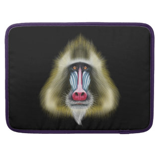 Bolsa Para MacBook Retrato ilustrado do macaco de Mandrill