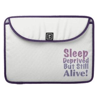 Bolsa Para MacBook Sono destituído mas ainda vivo em roxos sonolentos