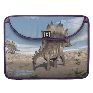 Bolsa Para MacBook Stegosaurus perto da água - 3D rendem