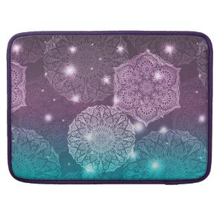 Bolsa Para MacBook Teste padrão luxuoso floral da mandala