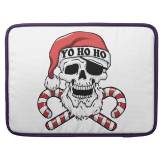 Bolsa Para MacBook Yo ho ho - papai noel do pirata - Papai Noel
