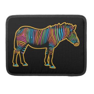 Bolsa Para MacBook Zebra colorida do arco-íris