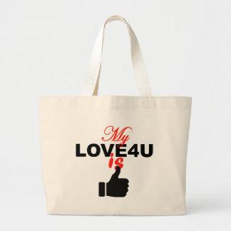 Bolsa personalizada do bolsa do amor