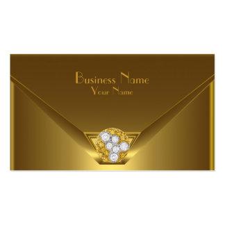 Bolsa selvagem elegante do preto do ouro do cartão cartões de visita