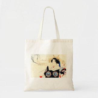 Bolsa Tote 水野年方 de Mizuno Toshikata, Courtesan - arte