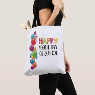 Bolsa Tote 100th dia feliz da escola. Balões