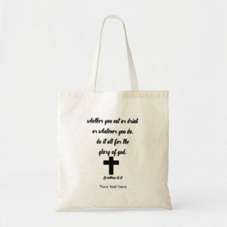 Bolsa Tote 10:31 dos Corinthians