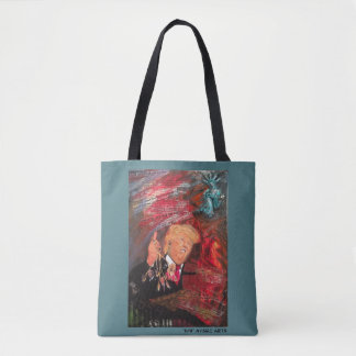"Bolsa Tote ""11/9"" sacolas do Anti-Trunfo"