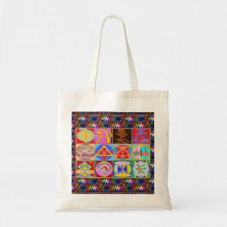 Bolsa Tote 12 designs curas de Reiki n Karuna Reiki