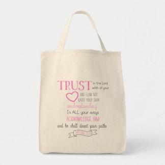 Bolsa Tote 3:5 dos provérbio da sacola do verso da bíblia - 6