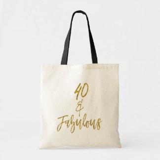 Bolsa Tote 40 e sacola fabulosa do aniversário da folha de