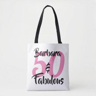 Bolsa Tote 50 e festa de aniversário personalizada fabulosa