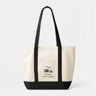 Bolsa Tote 50th sacola feliz do aniversário de casamento