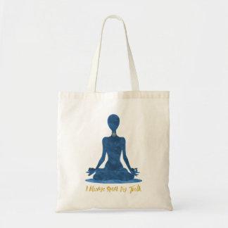 Bolsa Tote 5o Afirmação do azul de Vishuddha da garganta de
