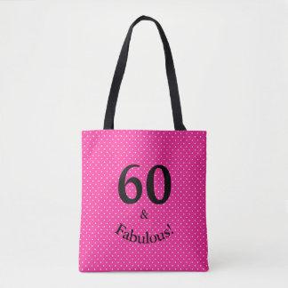 Bolsa Tote 60 & bolinhas cor-de-rosa brilhantes do