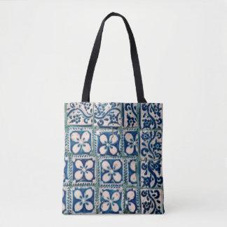 Bolsa Tote 68 - Sacola do desenhista - azulejos em Oaxaca