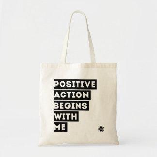 Bolsa Tote A ação positiva começa comigo o BOLSA!