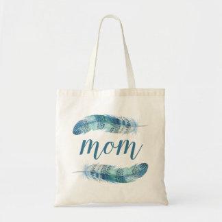 Bolsa Tote A aguarela de Boho empluma-se o dia das mães de |