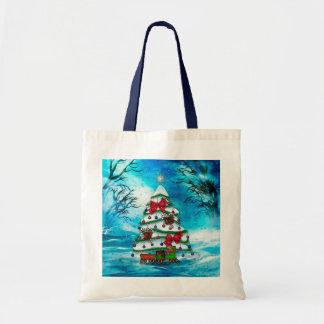 Bolsa Tote A arte popular do Natal da árvore