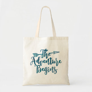 Bolsa Tote A aventura começa o saco da aguarela