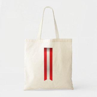 Bolsa Tote A bandeira abstrata de Áustria, austríaco colore o