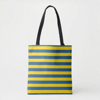 Bolsa Tote A bandeira de Ucrânia da suecia listra linhas yel