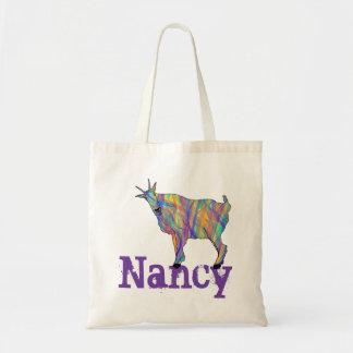 Bolsa Tote A cabra colorida que está no design adiciona seu