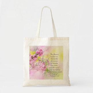 Bolsa Tote A canção de flores do 2:12 de Solomon aparece na