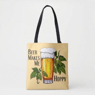 Bolsa Tote A cerveja faz-me Hoppy