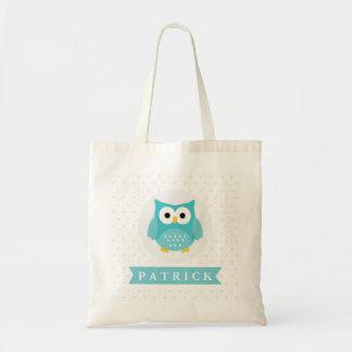 Bolsa Tote A coruja bonito caçoa a sacola