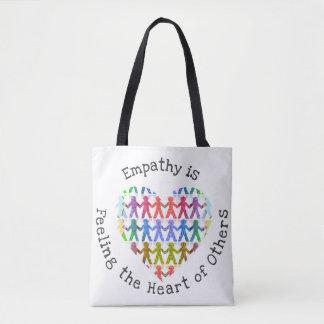 Bolsa Tote A empatia está sentindo o coração de outro