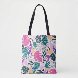 Bolsa Tote A flor colorida dá forma à sacola tropical do