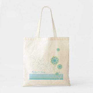 Bolsa Tote A flor da neve roda saco feito sob encomenda do