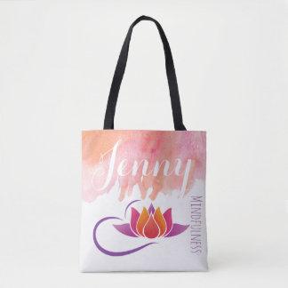 Bolsa Tote A flor de Lotus da ioga do presente do Mindfulness