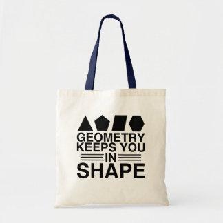Bolsa Tote A geometria mantem-no na piada da chalaça da