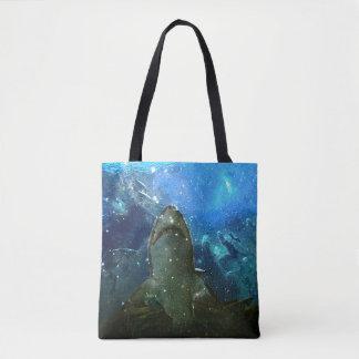 Bolsa Tote A grande lâmpada marinha da lava do tubarão branco