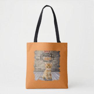 Bolsa Tote A laranja é o saco novo do gato