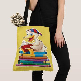Bolsa Tote A leitura é Ducky!  - Veja para trás
