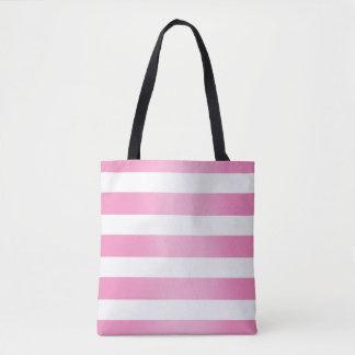 Bolsa Tote A listra cor-de-rosa desvanece-se sacola
