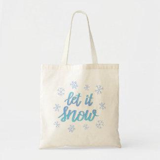 """Bolsa Tote A mão rotulou o floco de neve de Ombre """"deixou-o"""