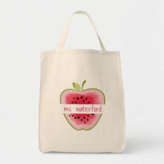 Bolsa Tote A melancia Apple personalizou o professor