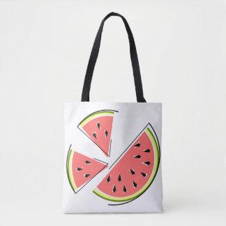 Bolsa Tote A melancia remenda a sacola verificada para trás